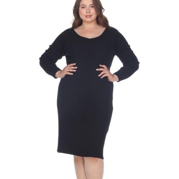 White Mark Sweaters | Scoop Neck Sweater Dress Plus Size Ps05702 ...